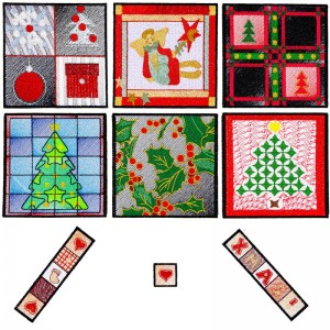 BFC1612 Christmas Quilt Squares with Borders