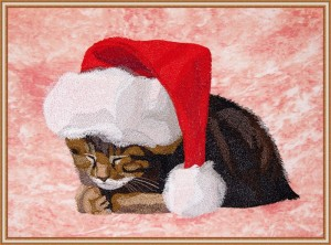 BFC1617 Large Christmas Kitten