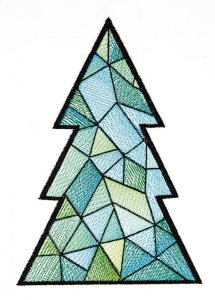 BFC1618 Patchwork Christmas Trees 12