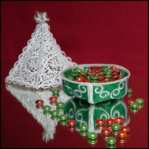 BFC1627 Christmas Tree Candy Dish