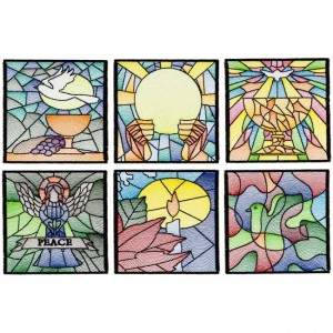 BFC1676 Stained Glass Quilt Squares- Peace