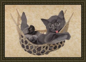 BFC1689 Large Kitten in a Hammock