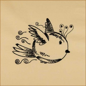 BFC1693 Sketchy Pals - Blackwork  Version - Birdy