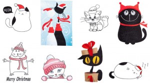 BFC1705 Christmas Cats and Kittens