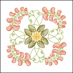 BFC1709 Art Nouveau Floral Quilt Blocks - 09