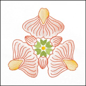 BFC1709 Art Nouveau Floral Quilt Blocks - 12