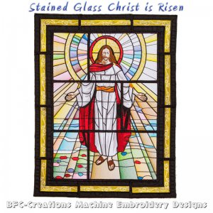 BFC1719 Stained Glass Christ is Risen Thread Kit