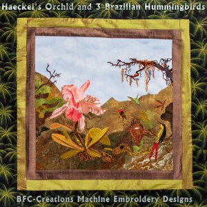 BFC1721 Haeckel's Orchids and 3 Brazillian Hummingbirds Thread Kit