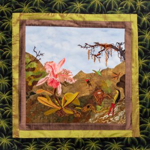 BFC1721 Haeckel's Orchid and 3 Brazilian Hummingbirds