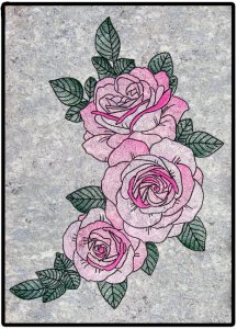 BFC1722 Large Decorative Roses