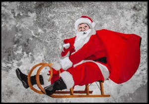 BFC1730 Large Santa in a Sled