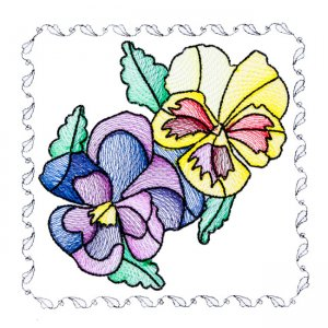 BFC1742 Stained Glass Floral Blocks - 02