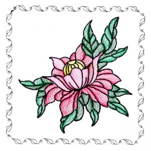 BFC1742 Stained Glass Floral Blocks - 08