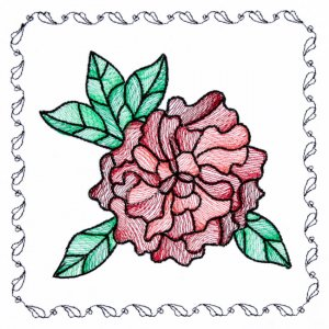 BFC1742 Stained Glass Floral Blocks - 12