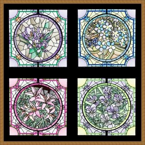 BFC1756 Stained Glass Circles and Frames - Part 2