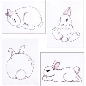 BFC1799 Cute Bunnies Funset