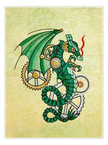 BFC1847 Steampunk Green Dragon Thread Kit