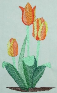 BFC0250 Watercolor Tulips