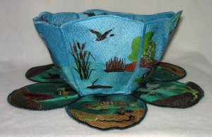 BFC0287 Lace Bowl and Doily The Fishin Hole