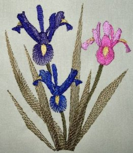 BFC0294 Watercolor Iris