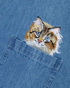 BFC31304 Calico Cat Pocket Topper