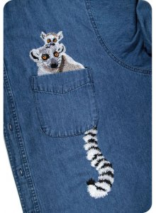BFC31306 Moma and Baby Lemur Pocket topper