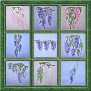 BFC0319 Watercolor Wisteria