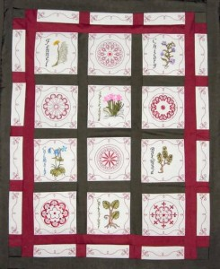 BFC0321 Medieval Herbal Quilt Squares