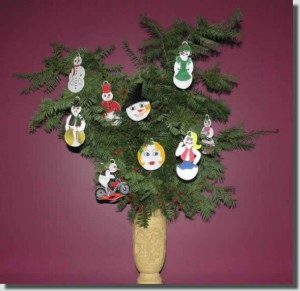 BFC0379 Freestanding Lace Snowman Ornaments