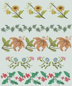 BFC0392 Floral Borders