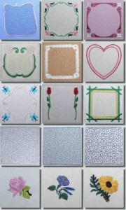 BFC0412 Stippled Frames Quilt Squares