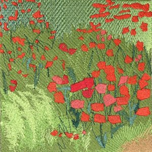 BFC0496 Window - Poppy Fields