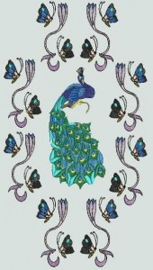 BFC0502 Art Nouveau  Peacock Designs