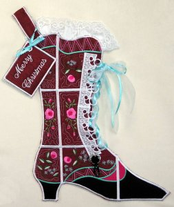 BFC0626 Quilt in the Hoop Christmas Stocking V
