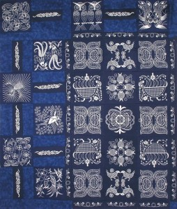BFC0639 Chinese Indigo Centerpiece, Borders and Corners
