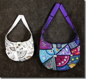 BFC0702 QIH Crazy Quilt Hobo Bag