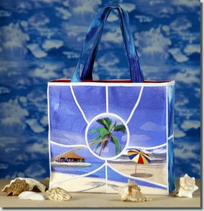 BFC0723 QIH Tropical Getaway Tote Bag