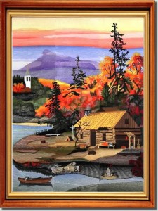 BFC0773 Window - Four Seasons - Fall Sunrise