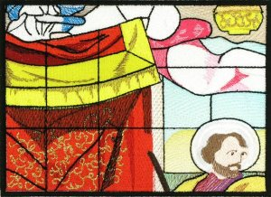 BFC0787 Stained Glass - Adoration of the Magi