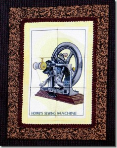 BFC0831 Window - Vintage Sewing Machine