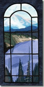 BFC0843 QIH Stained Glass - Mountain Vista