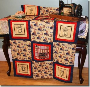BFC0886 QIH Vintage Sewing Machine Quilt Blocks