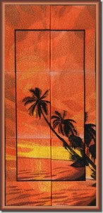 BFC0899 Window - Palm Sunset