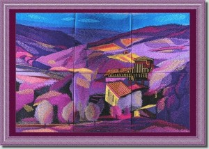 BFC0928 Window-Tuscan Landscape Fantasy
