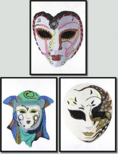 BFC0977 Three Dance Masks III