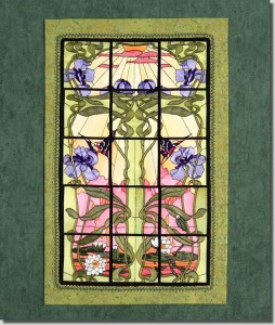 BFC0994 QIH or Regular Stained Glass Sunlit Flowers