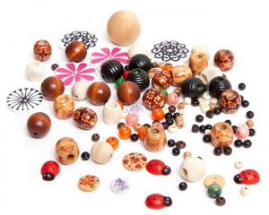 Wooden Buttons and Beads