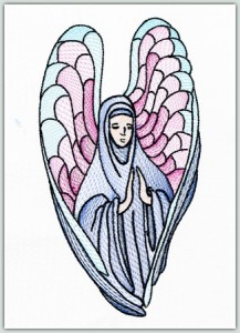 Stained Glass Angel 2