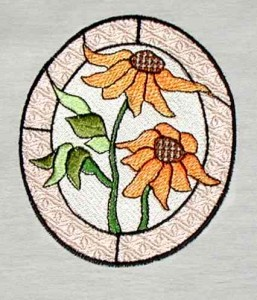 BFC0103 Stained Glass Flowers
