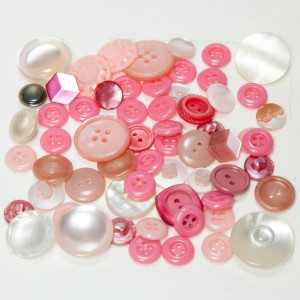 Vintage Acrylic Buttons - Pinks and Roses